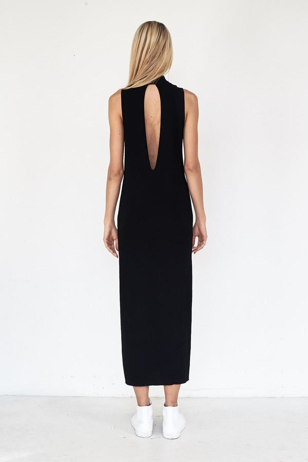 Pari Desai Viscose Talin Column Dress - Black