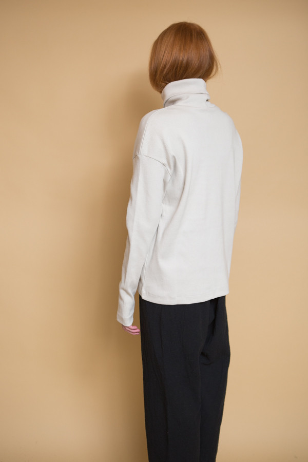 Kowtow Building Block Rib Roll Neck Top - Ivory