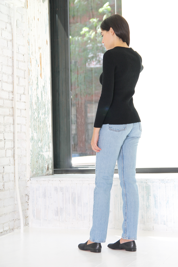 DUO NYC Vintage Keyhole Knit Sweater