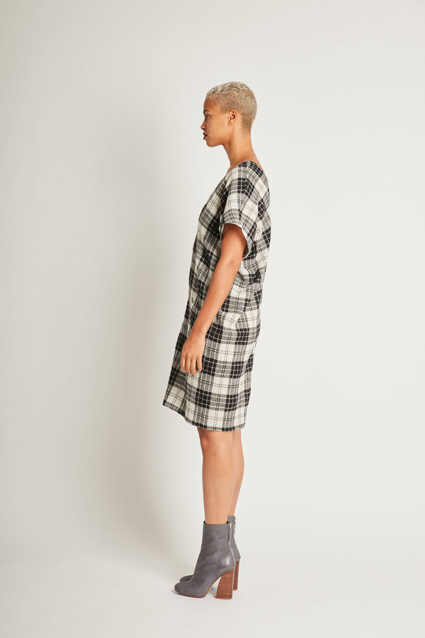 H. Fredriksson Juno Dress in Plaid Wool