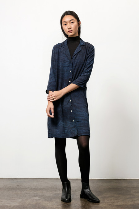 Osei-Duro Corium Dress in Natural Indigo