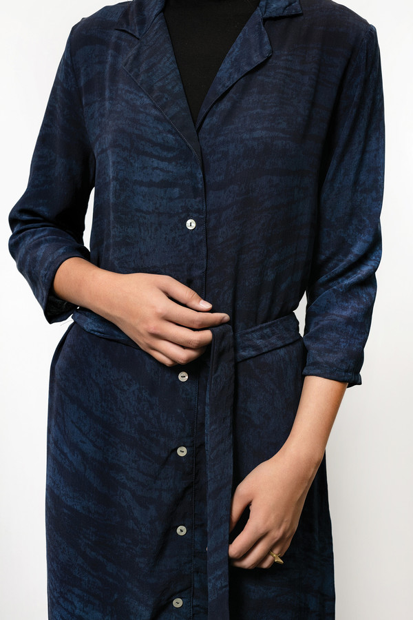 Corium Dress in Natural Indigo
