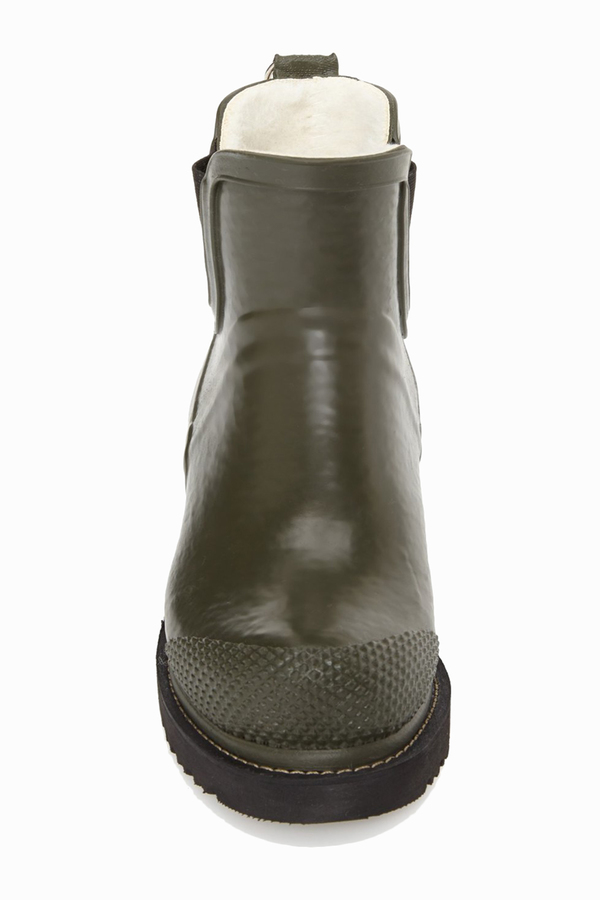 ILSE JACOBSEN Hornbaek 'RUB 47' Short Rain Boot- Khaki
