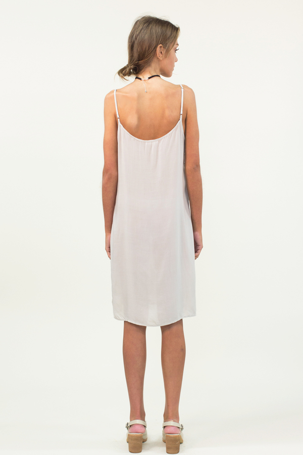 LACAUSA Easy Slip Dress- Stone