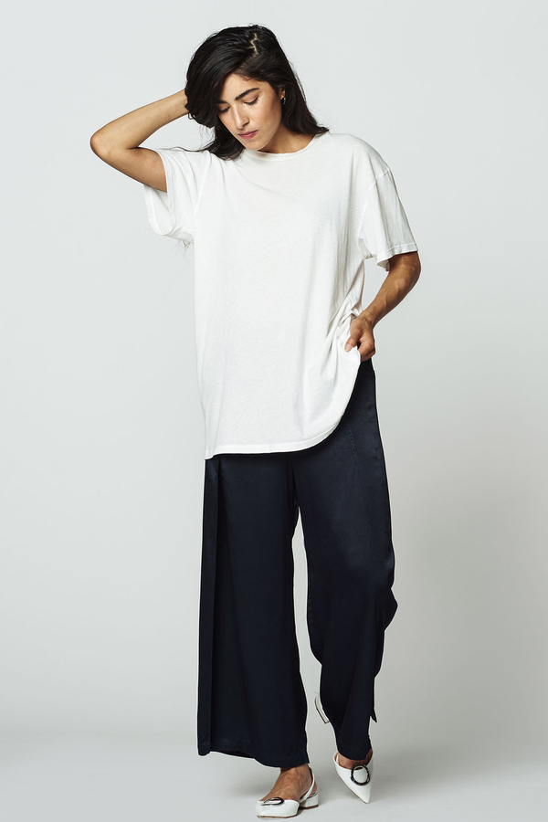 LACAUSA Vintage Tall Tee- White