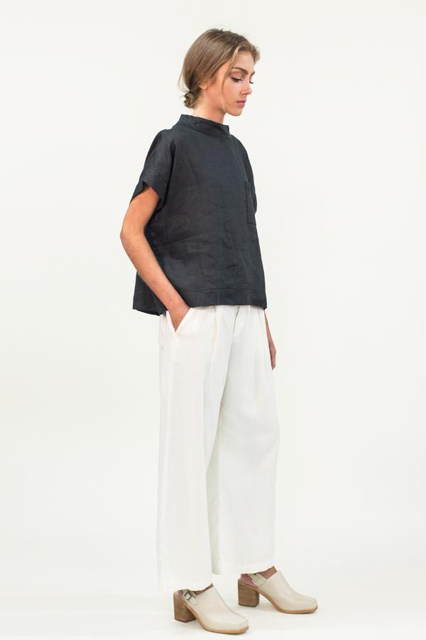 LACAUSA Lola Highwaist Trousers- White
