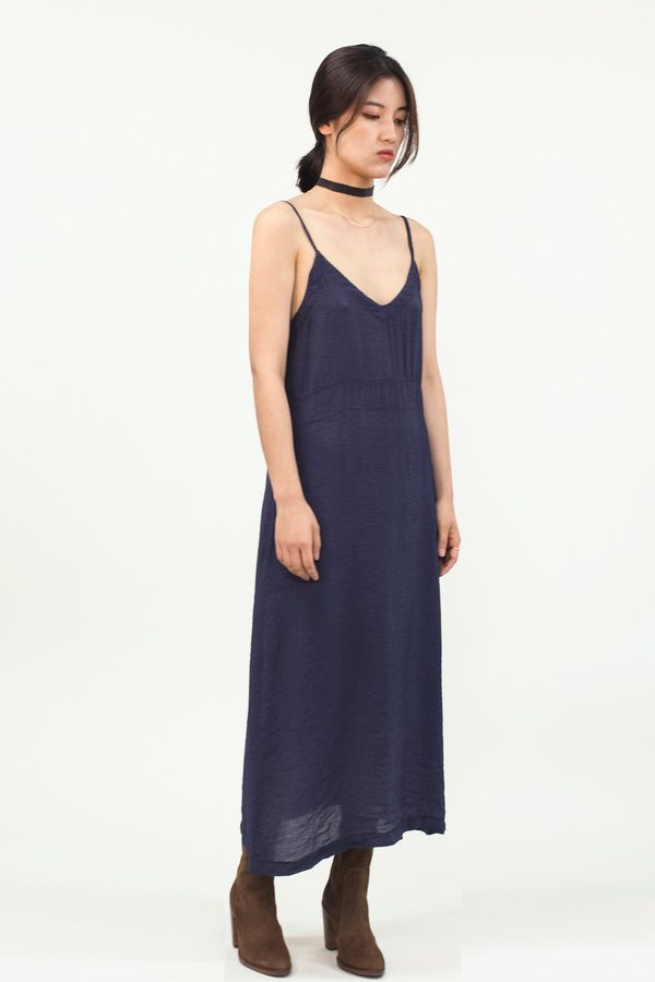 LACAUSA Alma Slip Dress- Velvet
