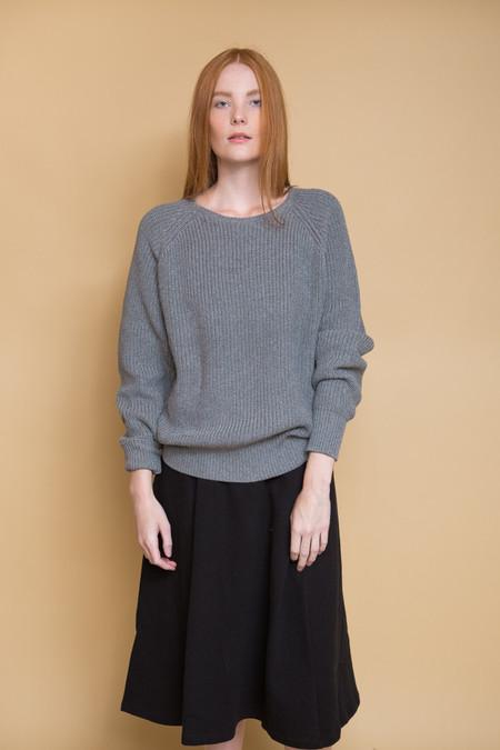 Callahan Boyfriend Sweater / Grey