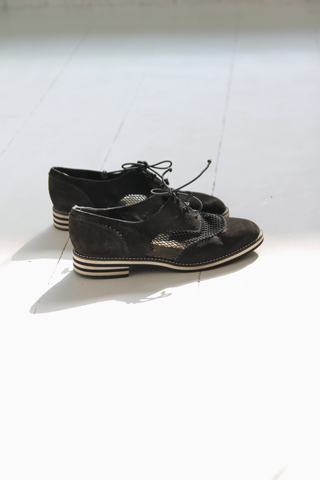 DUO NYC Vintage Nubuck Mesh Oxfords