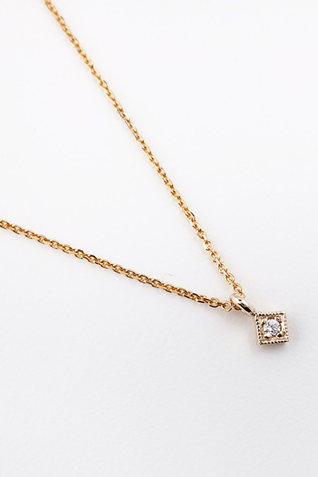 Jennie Kwon Designs Diamond Mini Square Necklace