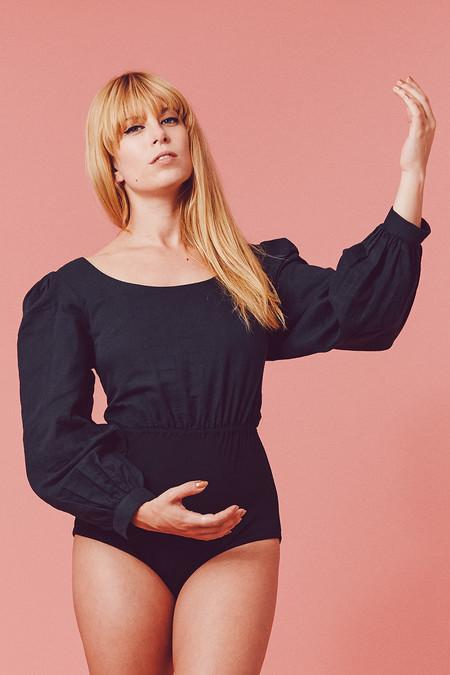 Samantha Pleet Phantasm Bodysuit - Black