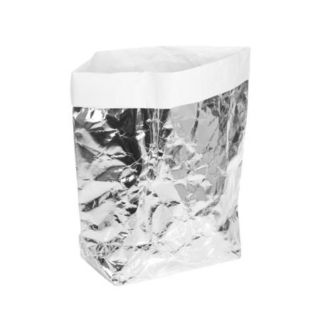 Silver Metallic Laundry Bag
