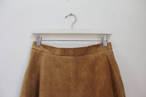 Hey Jude Suede A-Line Skirt