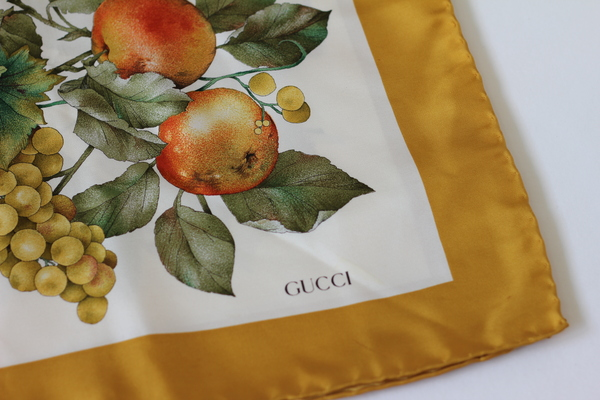 Hey Jude Vintage Motif Scarf by Gucci