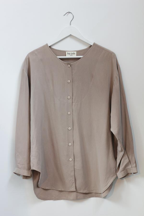 Hey Jude Sandstone Silk Tunic