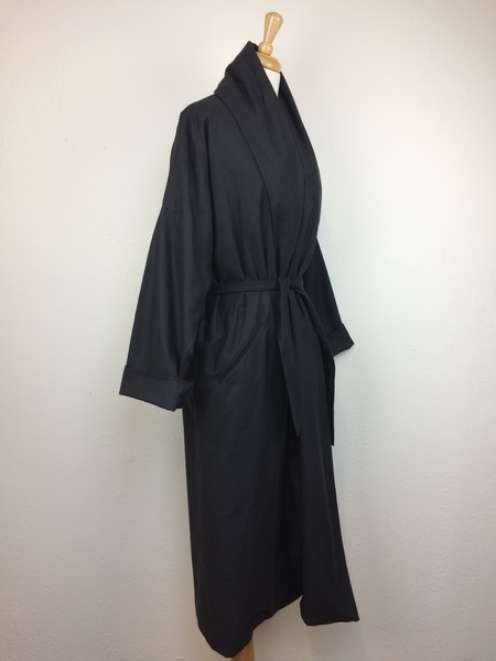 Black Crane Long Coat