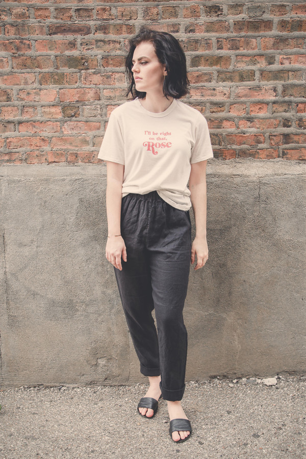Rachel Antonoff I'll Be Right On That Rose Tee