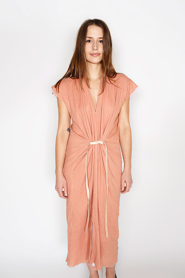 Miranda Bennett Vision Dress, Lined Cotton Gauze in Noon