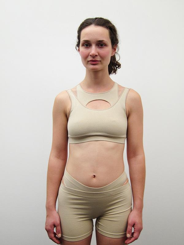 Baserange Esther Top, Nude
