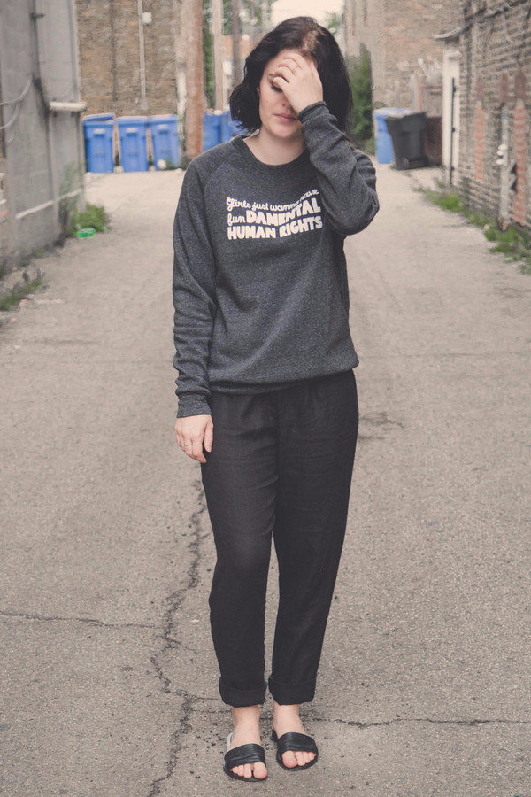 Rachel Antonoff Human Rights Sweatshirt or Tee