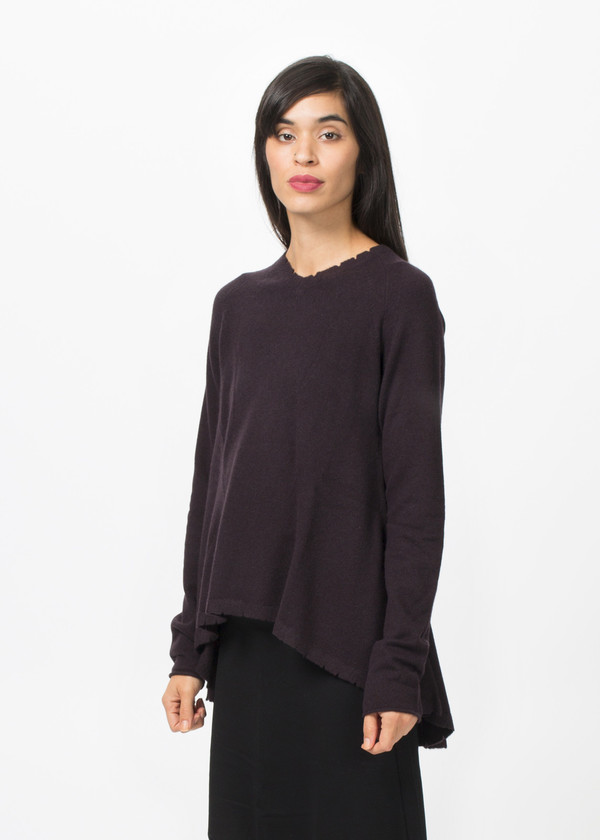 Rundholz Dip A-Line V Neck Sweater