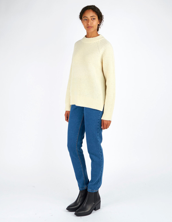 Ganni Hensley Textured Pullover Vanilla Ice