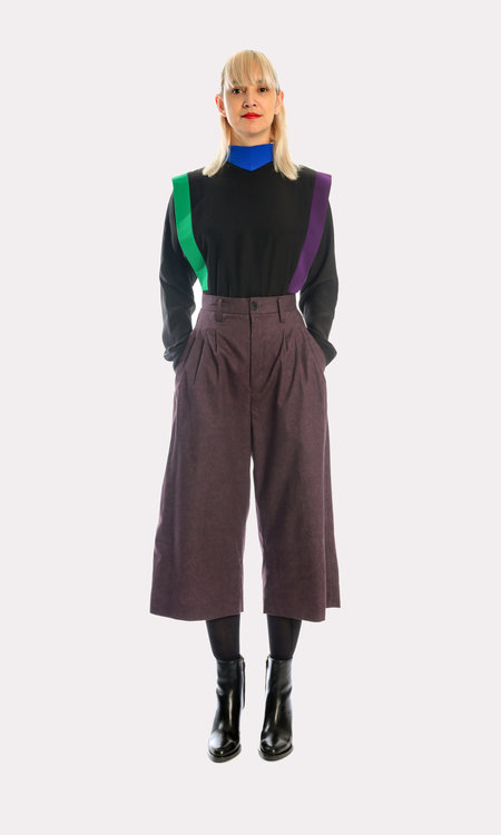 Kurt Lyle JG Shorty Pants in Rinsed Plum