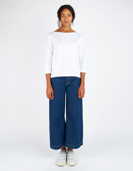 Kowtow Building Block Boat Neck Top White