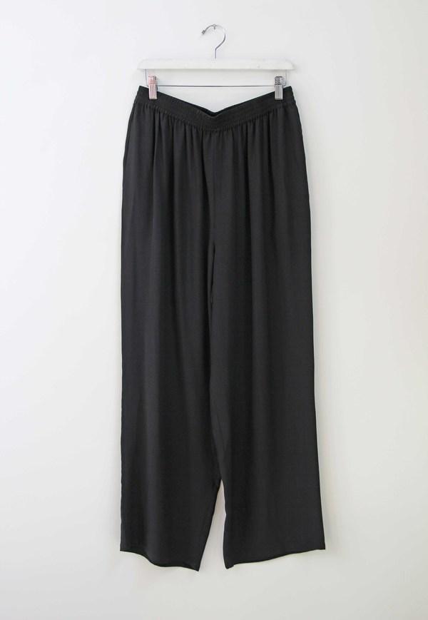Hey Jude Vintage Onyx Silk Trousers