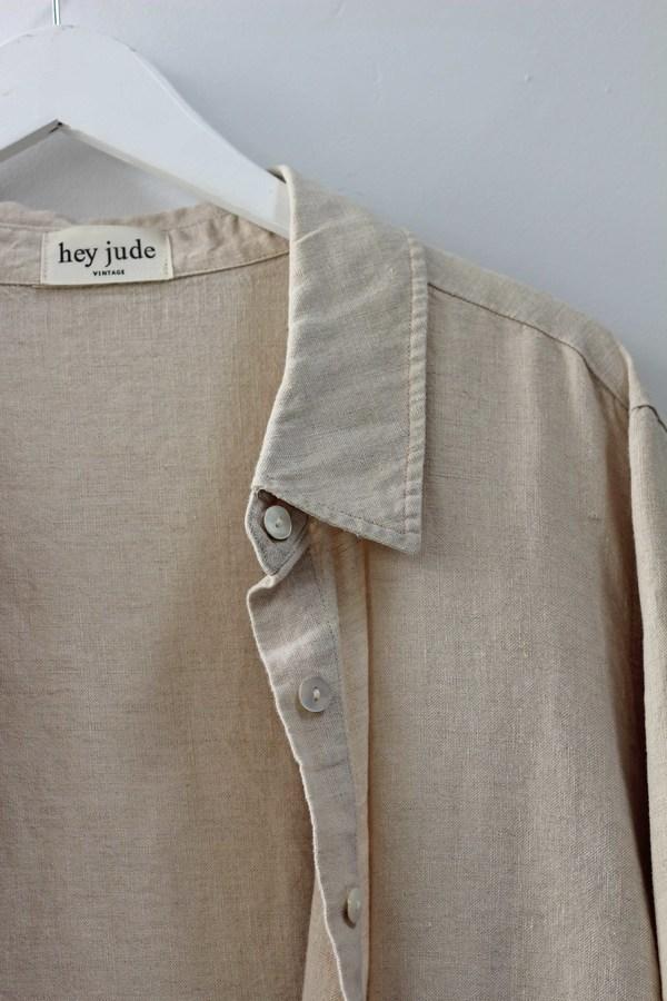 Hey Jude Vintage Linen Button Down