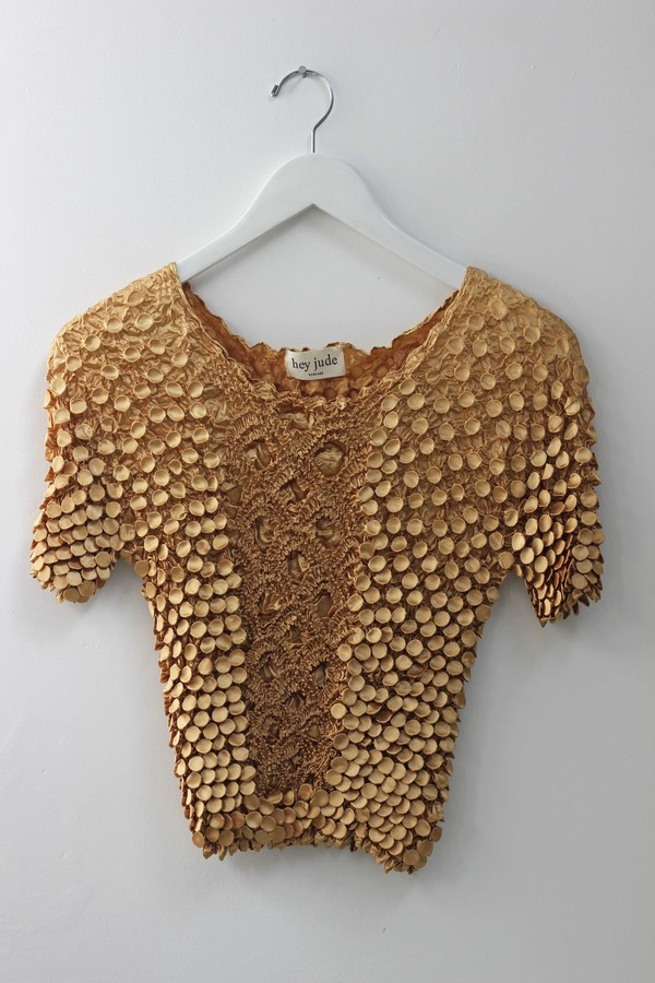 Hey Jude Vintage Gold Textured Tee