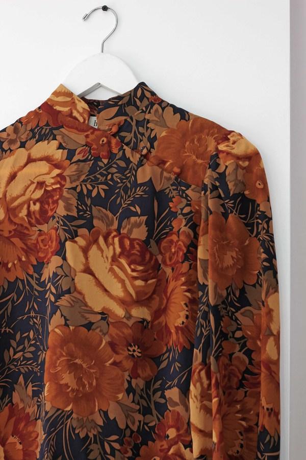 Hey Jude Vintage Floral Motif Longsleeve
