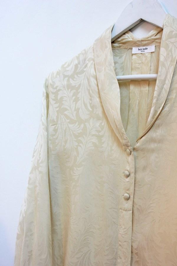 Hey Jude Vintage Brushed Silk Blouse