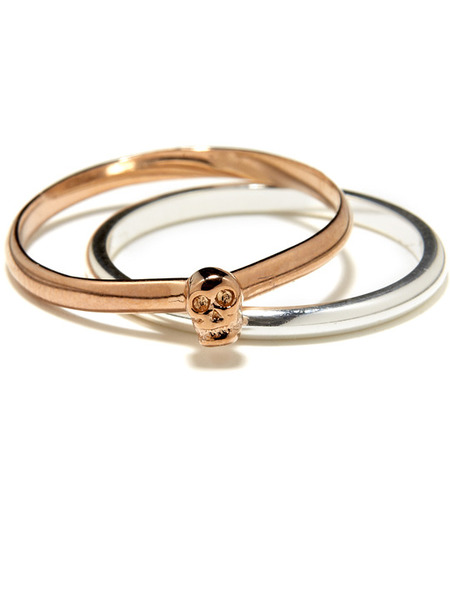 Bing Bang Tiny Skull ring set