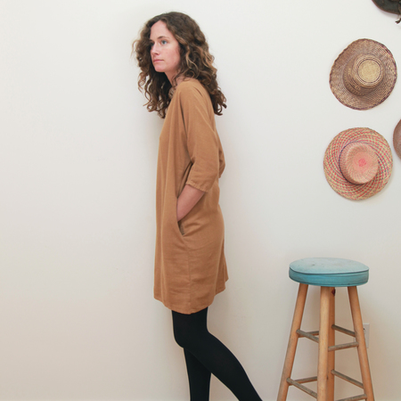 Me & Arrow Dolman 3/4 Sleeve Dress<br>Apple Cinnamon