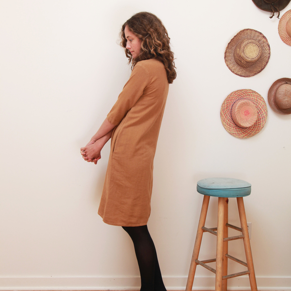 Me & Arrow 3/4 Sleeve Tall Dress - Apple Cinnamon