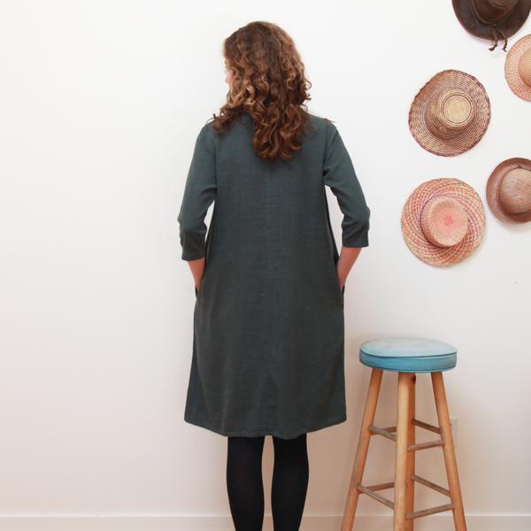Me & Arrow 3/4 Sleeve Tall Dress - Ivy