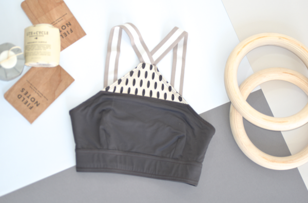 VPL Inlay Bra: Charcoal