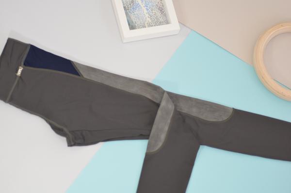 VPL X-Curvate Legging W: Charcoal X Weather Grey
