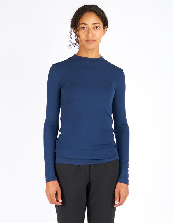 Just Female Alex Blouse Dress Blue