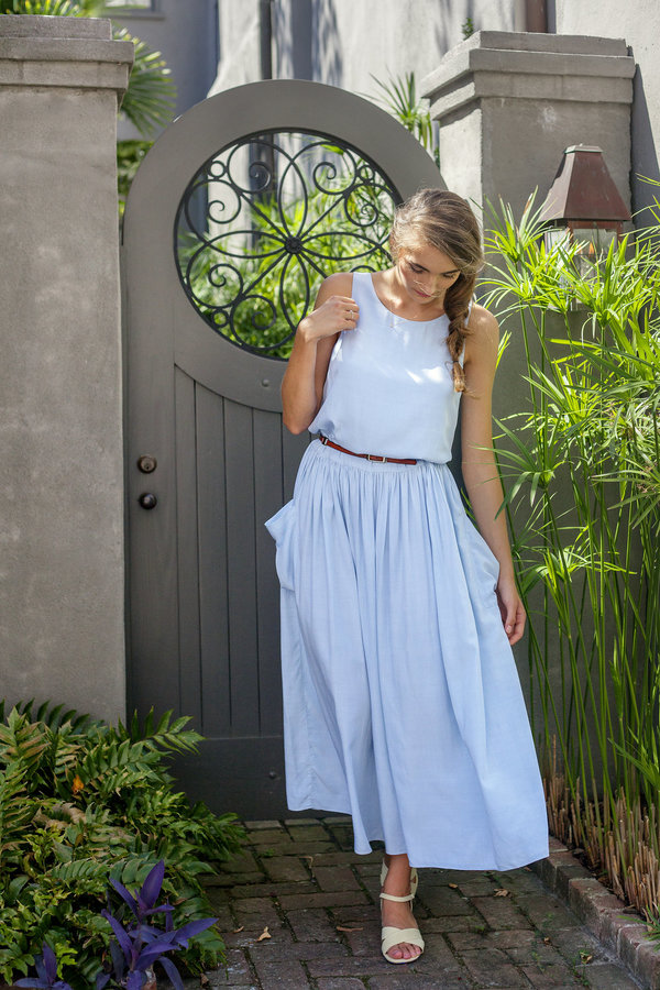 Plante Lotus Maxi Dress Light Blue
