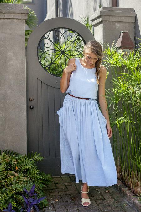Plante Lotus Maxi Dress Light Blue