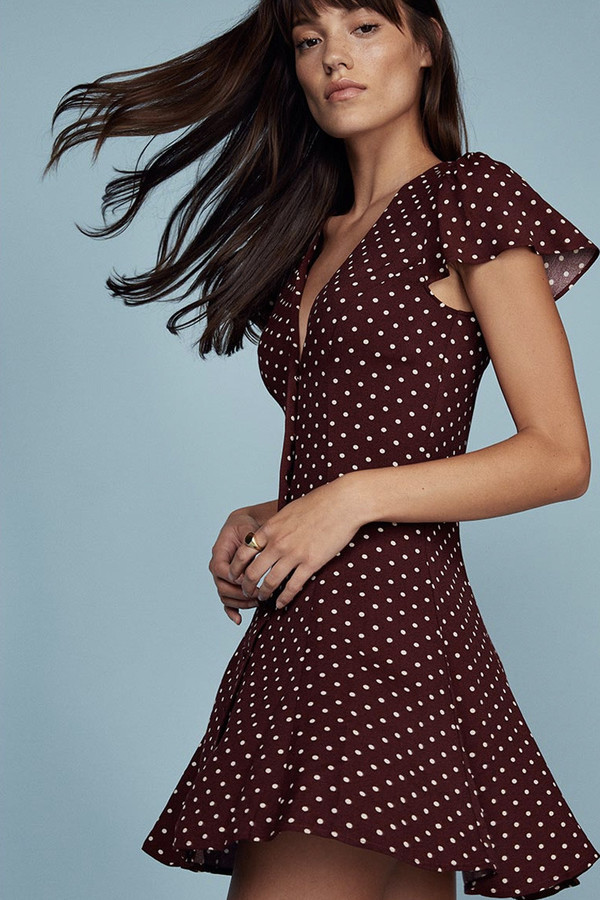 Reformation Fit and Flare Monroe Dress