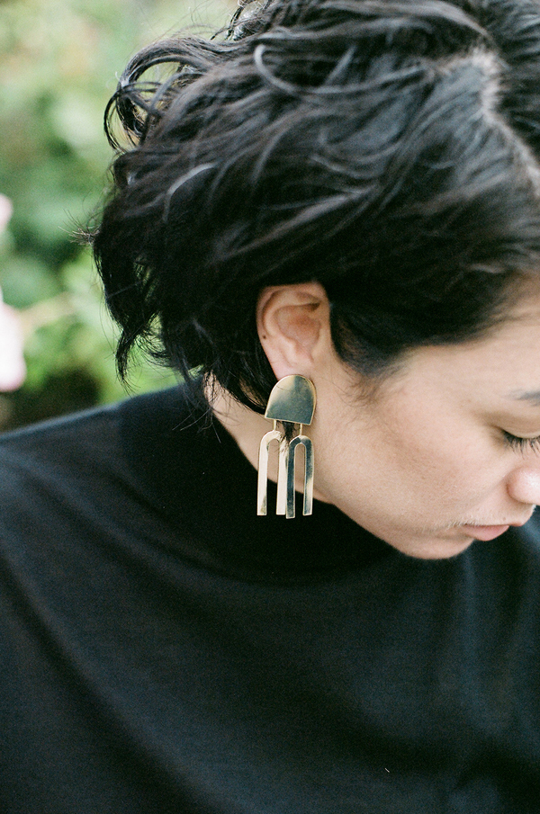 Quarry Lautner Earrings - brass