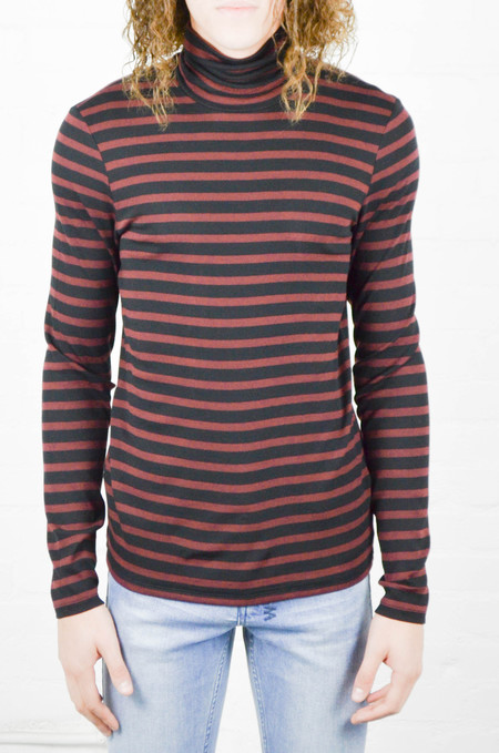 Men's ATM Anthony Thomas Melillo ATM Striped Modal Rib Turtle Neck