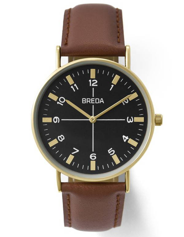 Breda Belmont Watch Gold Brown