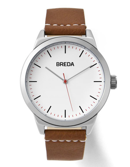 Breda Rand Watch Silver Brown