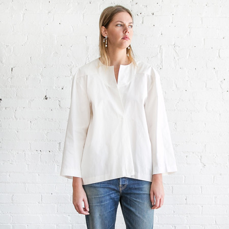 A Detacher Fern Shirt White