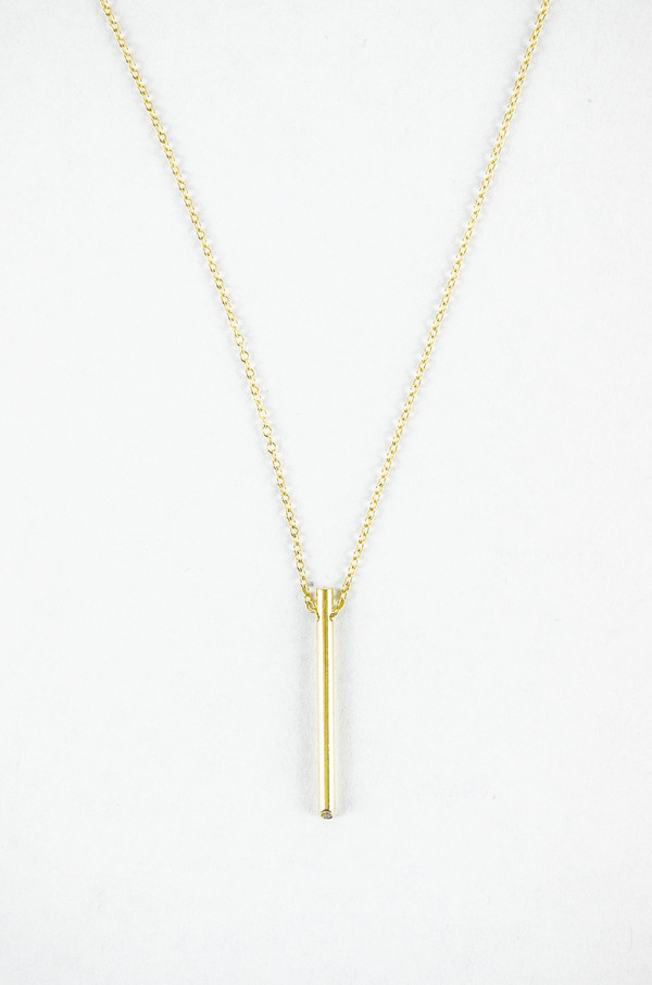 Still House White Diamond 14K Gold Ossu Necklace