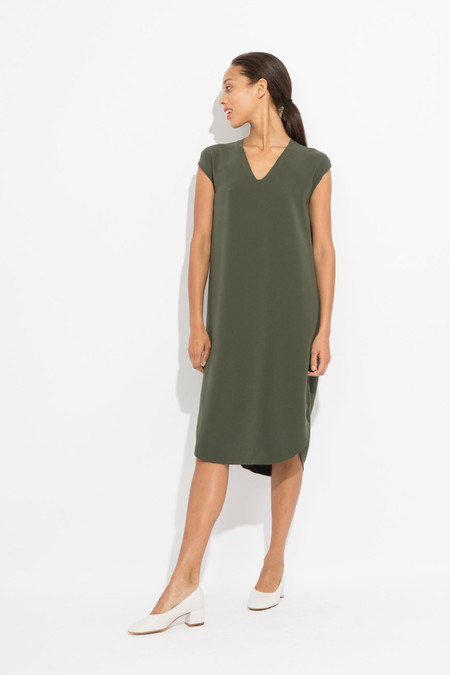 SCHAI Drappo Lean Dress - Olivene